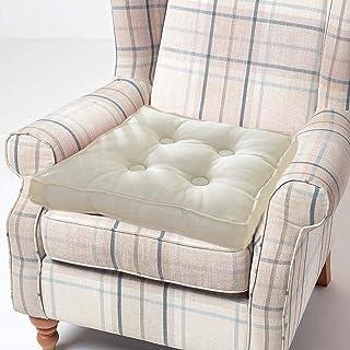 yzzseason Cojín elevador para sillón, cojín de asiento elevador, 100% algodón, relleno grueso, cojines de asiento para adultos, silla de jardín (beige, 50 x 50 cm)