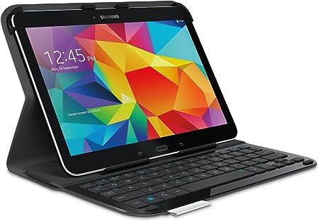 Logitech Ultrathin Keyboard Case - Funda para Samsung Galaxy Tab 4 (Bluetooth, USB, Teclado QWERTY), Negro