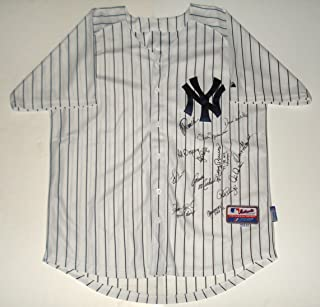 New York Yankees Legends Autographed Jersey - Posada, Dent, Wells, Rivers, etc.
