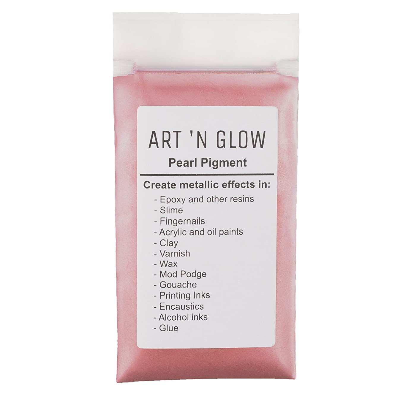 Mica Pearl Pigment Powder (Pink) - (.88 Ounce/25 Grams) - 10+ Colors Available
