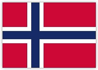 10 x Aufkleber Norwegen Flagge, 7,4 x 5,2 cm für innen und außen