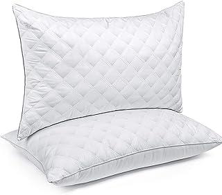 SORMAG - Almohadas de cama (2 unidades) de la colección de hotel de lujo, ideal para dormir de lado y de espalda, hipoalergénicas