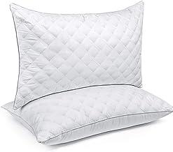 طقم وسائد سريرية للنوم من SORMAG، مقاس قياسي 50.8 × 66.04 سم، مجموعة فخمة للفنادق من الجل ، مجموعة وسائد لا تسبب الحساسية ...
