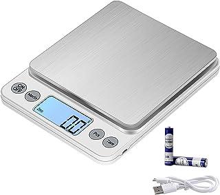 KUBEI Taille Extra Large Balance de Alimentaire 5kg/0.1g Rechargeable par USB Numérique Balance de Cuisine,PréCision Balan...