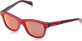 نظارات شمسية للجنسين من ديزيل سكواير، برتقالي DL0111 52 18 140 ملم