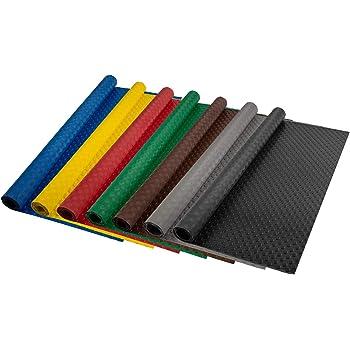 | viele Farben /& Gr/ö/ßen grau - 120x400 cm gewerbliche R/äume uvm Flachnoppen PVC Bodenbelag rutschhemmender Belag f/ür B/öden in Werkstatt Garage 2,2 mm St/ärke