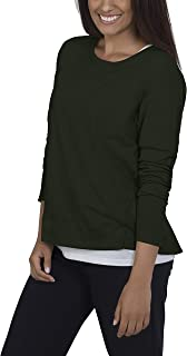 Fruit Of The Loom Women's Essentials In Transit Long Sleeve French Terry Top Shirt