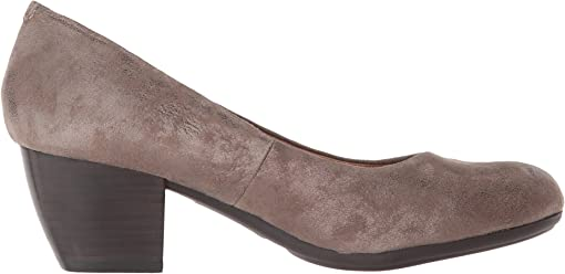 Smoke Distressed Foil Suede