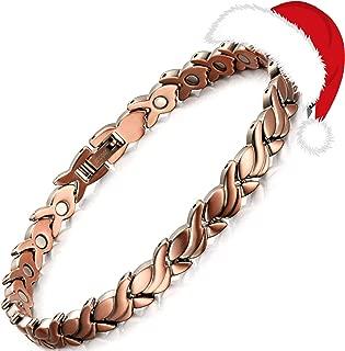 Rainso Womens Magnetic Copper Bracelets for Arthritis Wristband