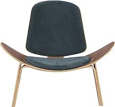 Kardiel Tripod Plywood Modern Lounge Chair, Neptune, Walnut
