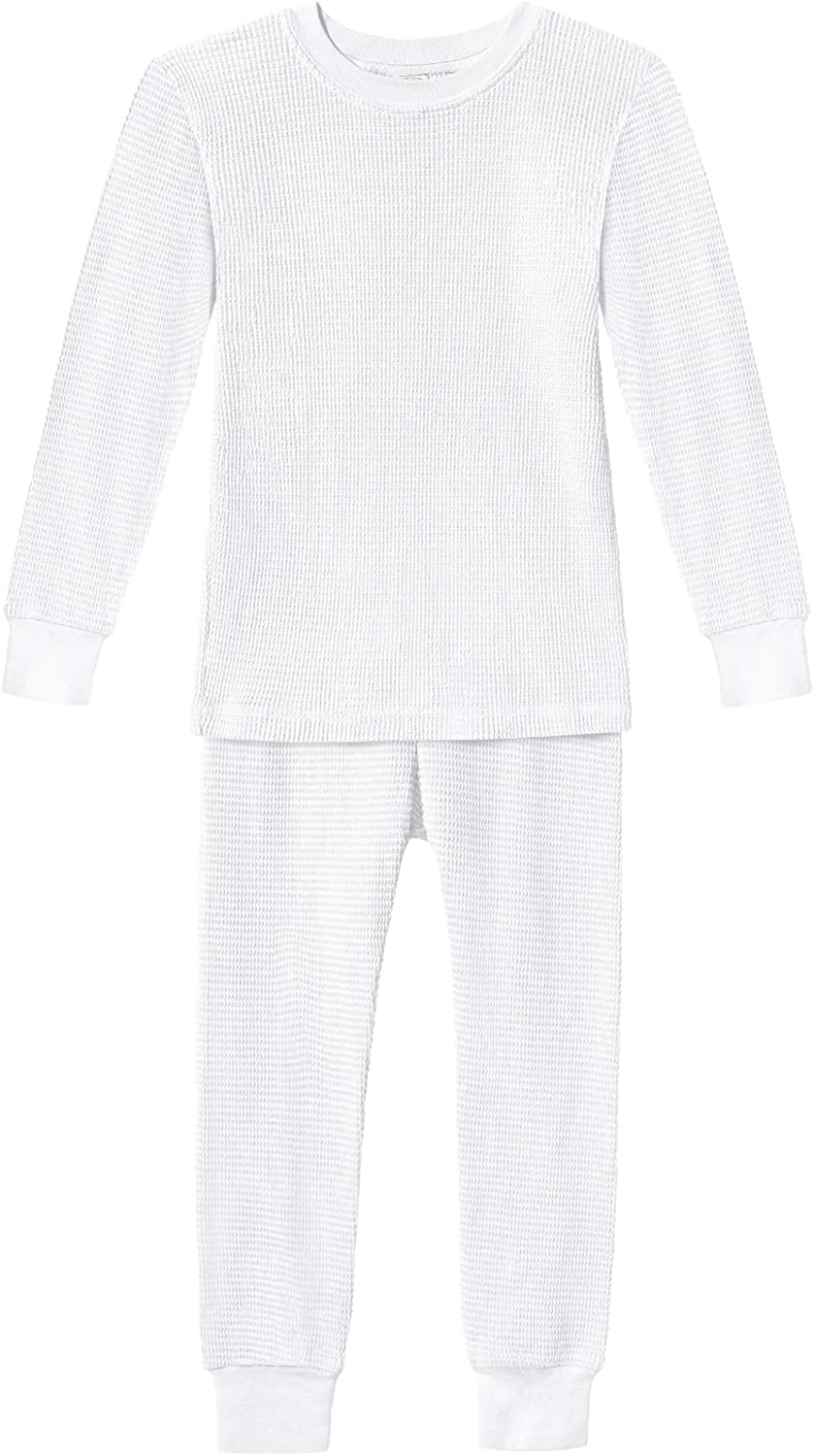City Threads Boys and Girls Thermal Underwear Base Layer Long John Set - Soft 100% Cotton - Made in USA