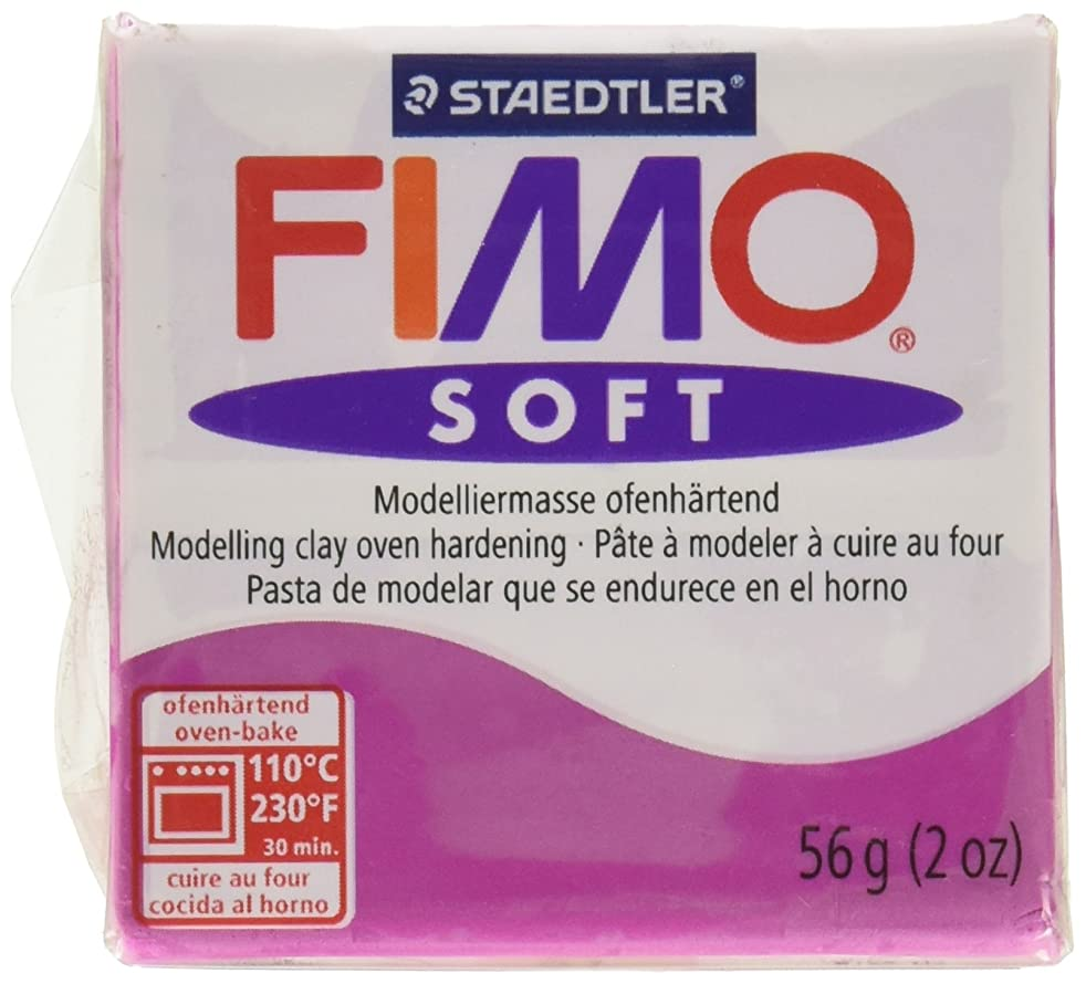STAEDTLER Fimo Soft Polymer Clay 2 Ounces-8020-61 Violet