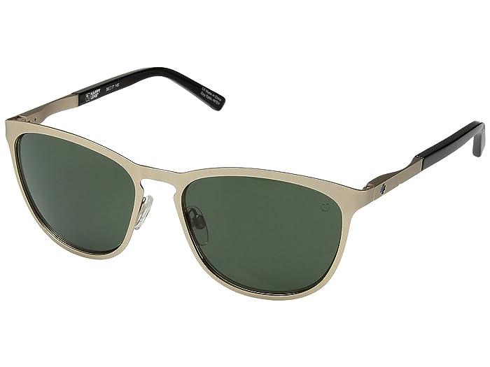 Spy Optic Cliffside (Matte Gold/Gloss Black/Happy Gray Green) Sport Sunglasses