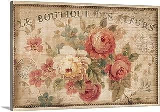 Parisian Flowers III Canvas Wall Art Print, 36