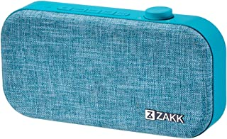 ZAKK Lounge Portable Bluetooth Speaker with Premium Fabric Design, Supports Micro SD/TF Card, AUX, Bluetooth V4.2 (Blue)