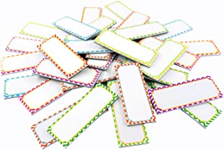Magnetic Dry Erase Labels Name Plates White Board 32 Labels 8 Colors,3.2
