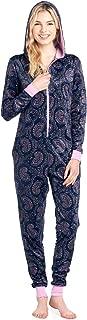 Ashford & Brooks Women's Fleece Hooded One Piece Pajama Union Jumpsuit