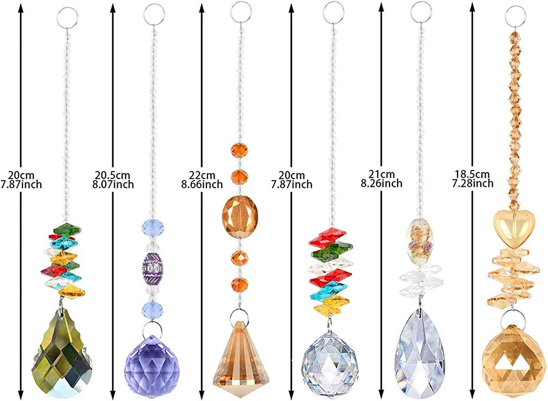 6PCS Color Crystal Rainbow Award-winning store Sun Pe Hanging 35% OFF Catcher Glass Ornament
