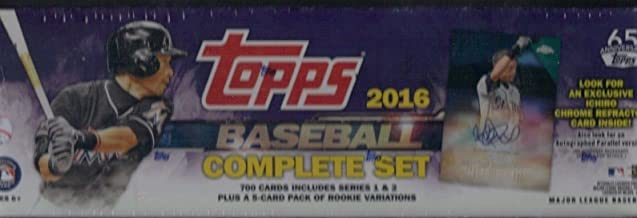 2016 Topps Baseball Factory Sealed Complete Set 700 Cards With Exclusive Ichiro Chrome Refractor Card