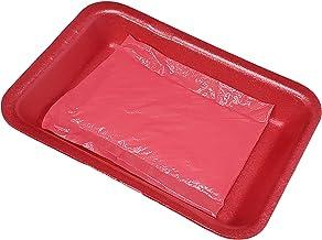 أطباق طعام فروزن روز بينك سوبر ماركت للعناية باللحم، مع وسائد مبطنة - 20.32 سم × 13.97 سم (25) من باكتيف
