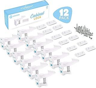 Cabinet Drawer Locks - Child Safety Latches, Drawer Child Lock 12-Pack