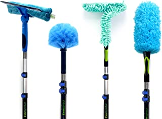 EVERSPROUT 5-to-14 Foot 4-Pack Duster Squeegee Kit with Extension-Pole (20+ Foot Reach)   Swivel Squeegee, Hand-Packaged C...