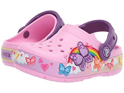 Crocs Kids CrocsFunLab Butterfly Band Lights Clog (Toddler/Little Kid) (Carnation) Kids Shoes