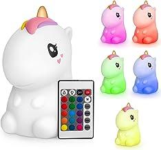 Sweet Ponies Eenhoornlamp, nachtlampje, eenhoorn, silicone, stil licht, nachtlampje voor kinderen met afstandsbediening