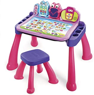 VTech Touch and Learn Activity Desk Deluxe, Pink (Renewed)