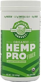 Manitoba Harvest HEMP PRO FIBER, 16 Ounce Tubs (Pack of 2)
