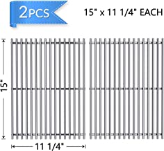 X Home Stainless Steel Grill Grates for Weber Spirit 200 Series with Side-Controls, Genesis Silver A, Spirit 500, 15 Inches Grill Replacement Parts Cooking Grates-(15 x 11-1/4 Inches Each, Set of 2)