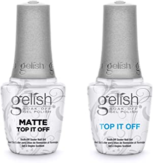 Harmony Gelish Matte & Gloss Duo Top Coat Pack (15ml) Soak Off Sealer Gel