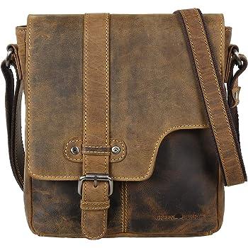 DAMEN LEDERTASCHE Umhängetasche Schultertasche Vintage Cross-Over Body Bag Börse