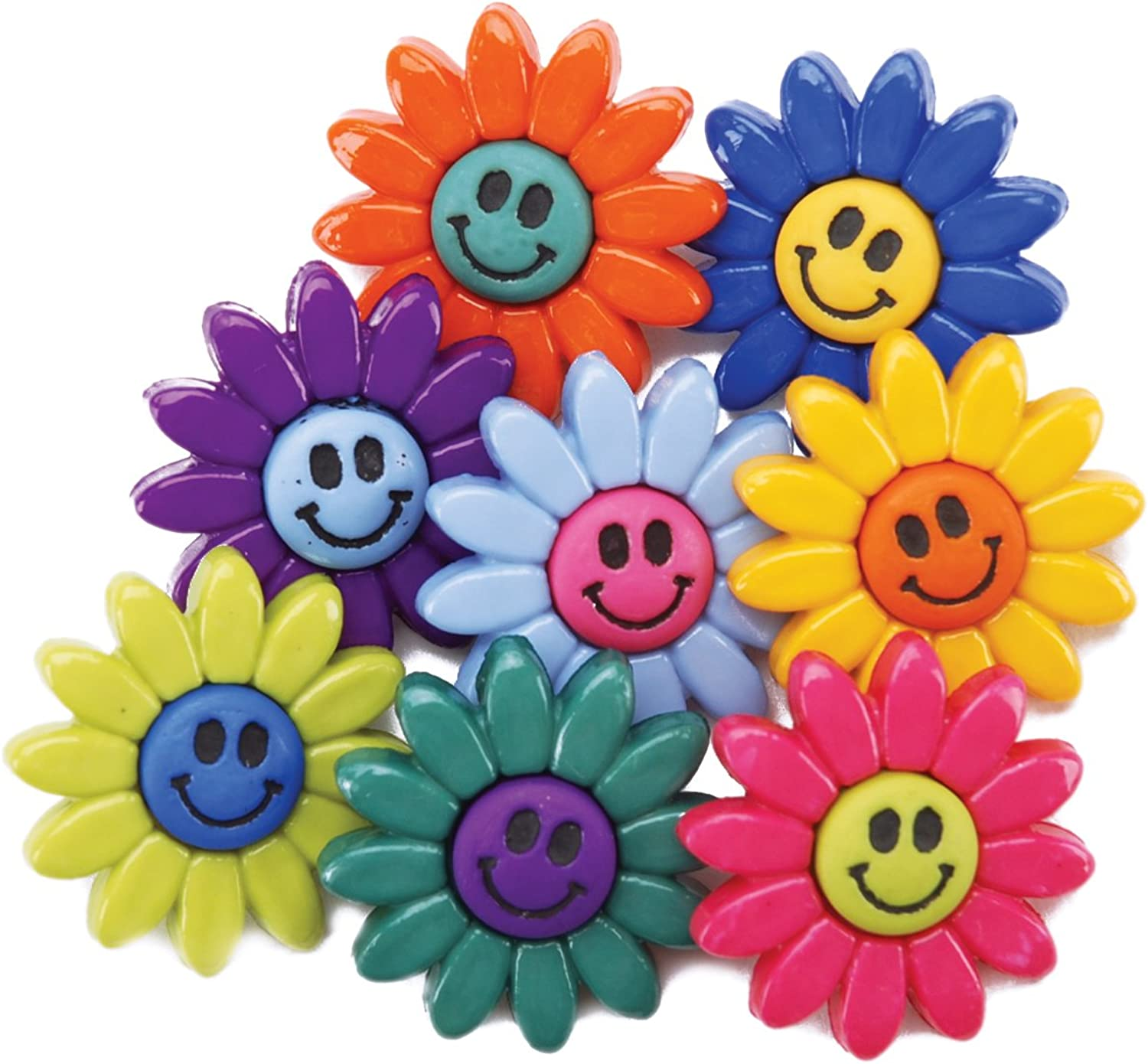 Jesse James Dress It Up Embellishments  Smiley Flowers