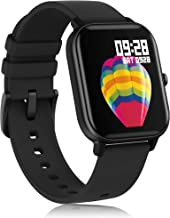 AMATAGE Smart Watch for Android Phones iPhone for Men Women, Fitness Tracker Watch with Heart Rate Oxyhemoglobin Saturation Monitor , Waterproof Activity Tracker with Sleep Monitor(Black)