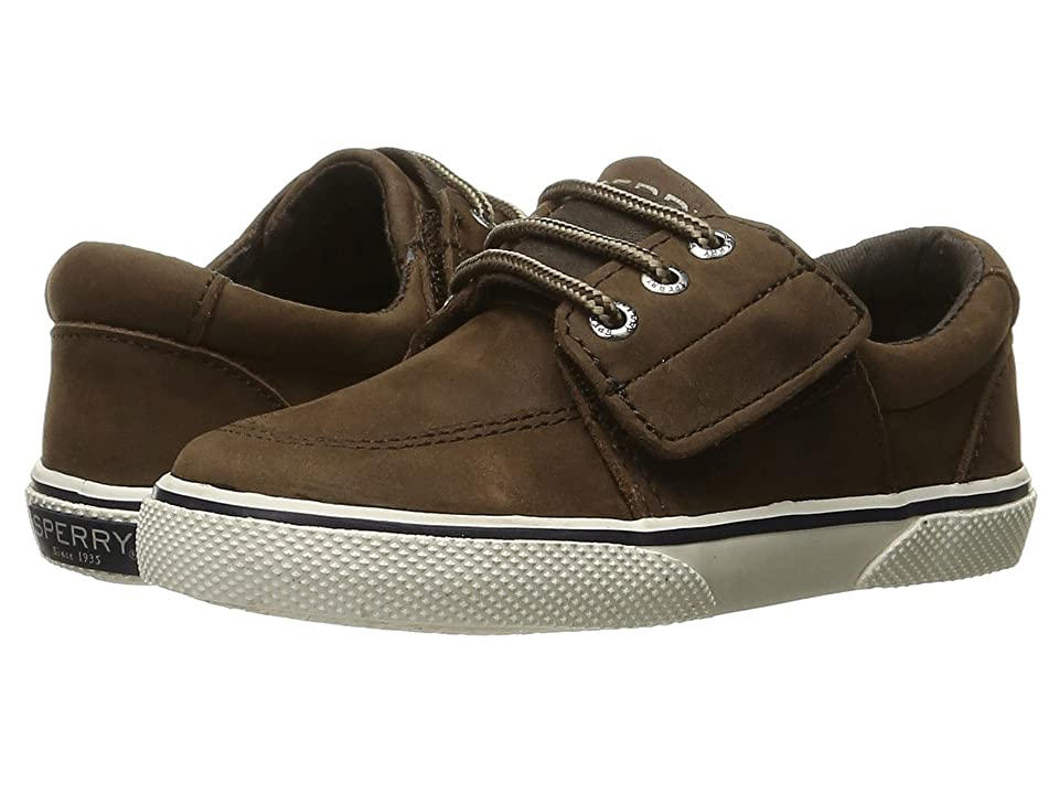 Sperry Kids Ollie Jr. (Toddler/Little Kid) (Brown Leather) Boys Shoes