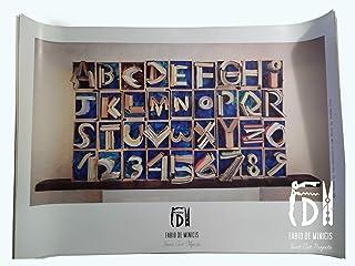 "Alfabeto ""ABC Books"" obra de Fabio De Minicis Póster tamaño 70 x 100 cm sin enmarcar"