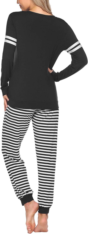 Ekouaer Materntiy & Nursing Pajamas Sets Long Sleeve Breatfeeding Pajamas with Jogger Pants for Hospital