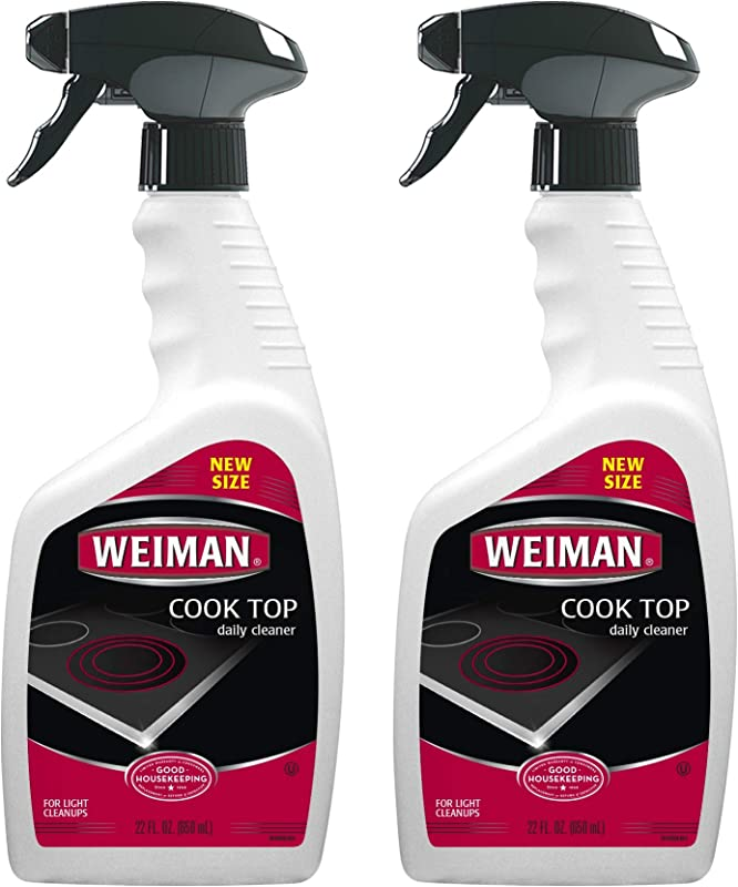 Weiman Cooktop Cleaner For Daily Use 2 Pack Streak Free Residue Free Non Abrasive Formula 22 Ounce