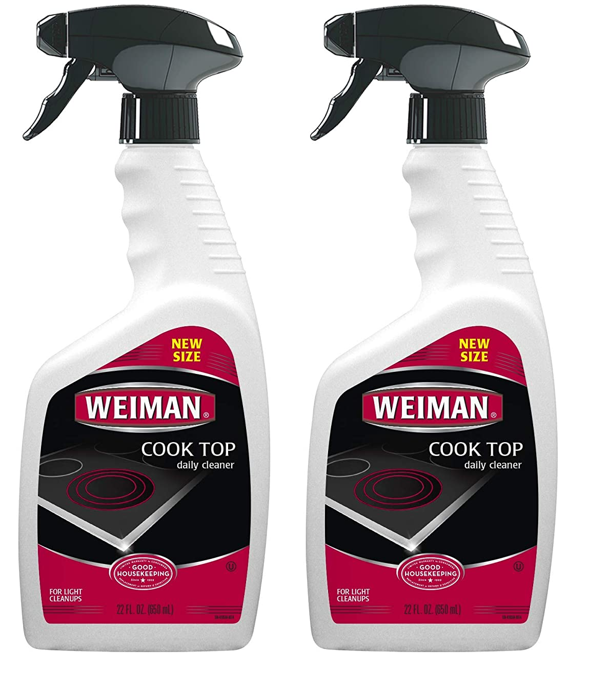Weiman Cook Top Daily Cleaner [2 Pack] Streak Free, Residue Free, Non-abrasive formula, 22 fl. Oz