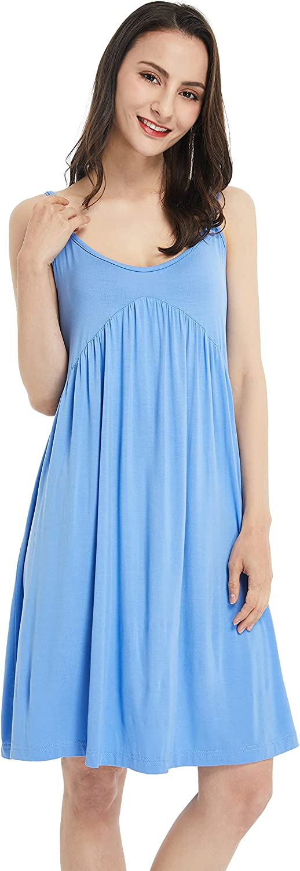 Deluxe Loisak Bamboo Womens Nightgown Sleeveless V Sleepshirts Neck Nig Selling rankings
