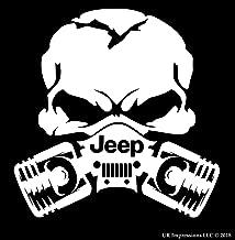 UR Impressions MWht Jp Piston Gas Mask Skull Decal Vinyl Sticker Graphics for Jeep 4x4 Grand Cherokee Wrangler Renegade SUV Wall Window Laptop|Matte White|5.5 Inch|URI028-MW