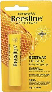 BEESLINE - Lippenbalsam - Natürliches Bienenwachs - Pflegender und feuchtigkeitsspendender Balsam - Trockene und gereizte Lippen - 4 g