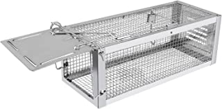 RatzFatz Mouse Trap Humane Live Cage, Catch and Release Mice, Rats, Chipmunks, Hamsters and Other Rodents, Hook Design