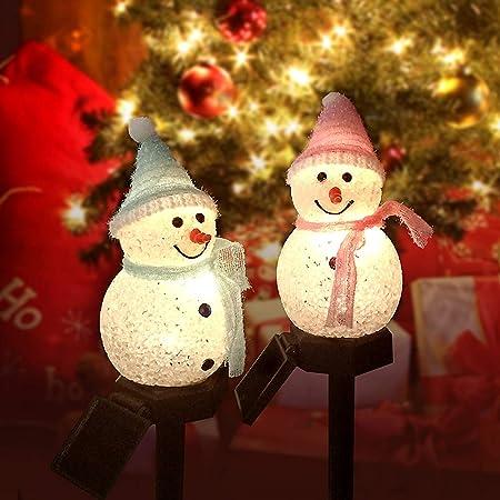 Amazon Com 2pack Christmas Decorations Solar Outdoor Lights Christmas Porch Light Snowman Decorations Outdoor Light For Porch Lights Garage Lights Large Light Fixtures Outdoor Christmas Decorations Garden Outdoor