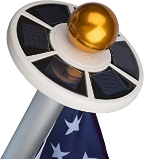 Sunnytech 2nd Generation Solar Flag Pole 20led Light, Brightest, Most Powerful, Longest..