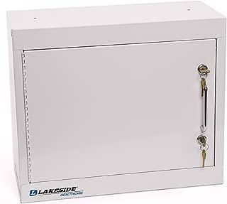 Lakeside LNC-1 Narcotics Cabinet; Single Door, Double Lock, (2) Adjustable Shelves, Beige, 18