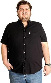 Mode XlBüyük Beden Erkek Kısa Kol Keten Gömlek 1