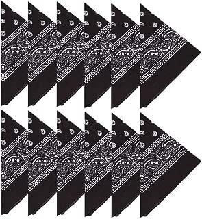 Cisne 2013 S.L Fazzoletto Unisex per Uomo e Donna Nero e Bianco. Colore: Rosso Dimensioni: Circa 55 x 55 cm Set di Tre fazzoletti Bandana in Cotone Microfibra per Testa o Collo