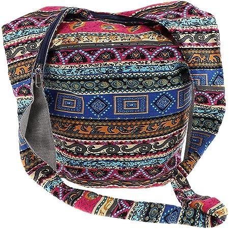 Bohemian Handtasche Schultertasche Crossbody Tasche Schulterbeutel mit Reißverschluss - Mehrfarbig
